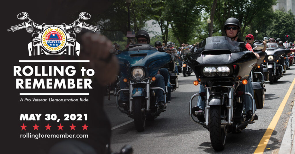 Rolling To Remember: A Pro-Veteran Demonstration Ride - AMVETS National  Headquarters